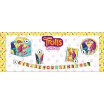 Paquete Premium De Desechables Para Fiesta Infantil Trolls