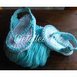 Zapatitos Tejidos (sandalias) A Crochet..detalles Luz!