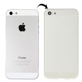 Cubierta Full Metal Apariencia Imitacion Para Iphone Blanca