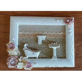 Enfeite Porta Lavabo Quadro Decorativo Banheiro