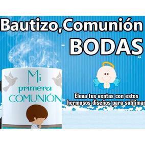 Bautizo, Bodas, Comunión, Diseños Para Sublimar.