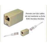Cupla De Union Para Cable Rj45 Red