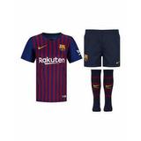Kit Uniforme Infantil Barcelona Messi 2019 Original Completo 968d719bc98
