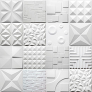 Revestimento Para Parede 3d Luxo 50cm X 50cm Kit 14 Placas
