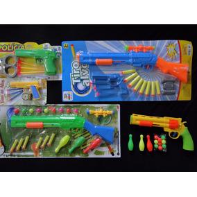 Hiper Kit Arma Pistola Revolver Rifle Espingarda Pressão