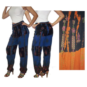 Pantalón Babucha Hindú, Bambula Estampada Batik 100%india