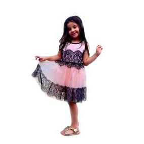 Vestido Infantil Festa Aniversário Princesa Rendado Luxo