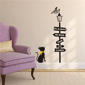 vinil para decorar paredes farol gato 1 - Decorar Paredes Con Fotos
