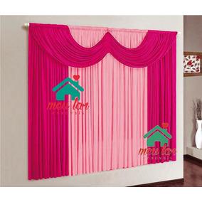 Cortina Paris 2,00x1,70m Pink E Rosa P/quarto E Sala #32