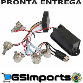 Kit Preamp Circuito Ativo Para Contra Baixo 5 Potenciometro