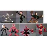 Marvel Super Hero Squad Figuras Set Spiderman Hulk Ironman