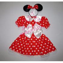 Disfraz Minnie Mouse Vestido Con Vincha