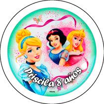 Pins Disney Princesas Souvenirs Personalizados 55mm Castelar