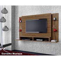 Home Painel P/ Quarto Sala De Tv 42 Pol Com Bancada Mb Cacau