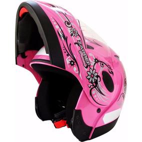 Capacete Taurus Zarref Feminino Rosa Robocop - Articulado