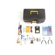 Kit Ferramentas Para Eletrônica Solda Lupa Multim Bip 49 Pçs