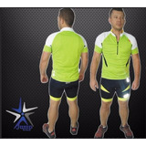 Licra Ciclismo Mtb Reflectiva Con Badana