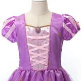 Vestido Princesas Disney Rapunzel Enrolados Promoção