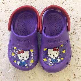 Cholas Hello Kitty Tipo Crocs Para Niña - Talla 23 - Nuevas!