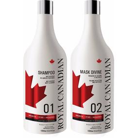 Kit Escova Royal Canadian Repositor De Queratina Profissiona