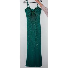 Vestido Longo De Renda Verde Brilho Maravilhoso