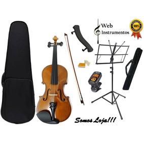 Kit Violino Dominante 4/4 Completo Estante Afinador Espaleir