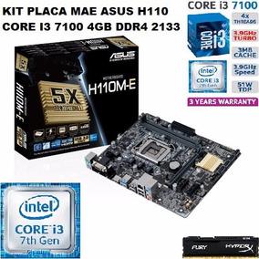 Kit Placa Mae Asus H110m Core I3 7100 4gb Ddr4 Testado