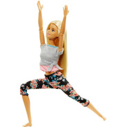 Barbie Made To Move Rubia Yoga Articulada Mattel Ftg81