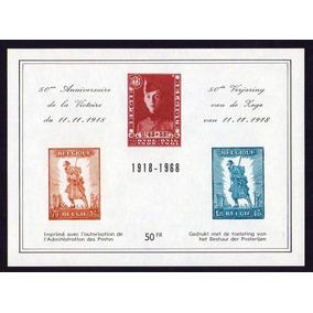 (12158) Bélgica 1968 Dia Da Vitória Guerra 1918 Novo C/goma