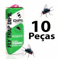 Fita Pega Mosca - Armadilha De Cola P/ Insetos Voadores 10pc