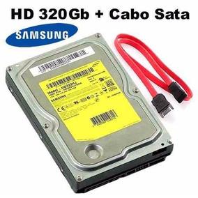 Hd (disco Rígido) 320gb 7200rpm Samsung Sata Pc + Cabo Sata