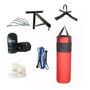 Bolsa Boxeo Guantin Vendas Cadena Soporte Soga Combo Box Kit