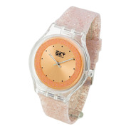 Reloj Sky Marine 2 By Feraud Mujer - Glitter Wr Silicona