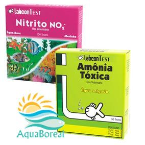 Kit Teste Para Aquário Água Salgada Amonia E Nitrito Alcon