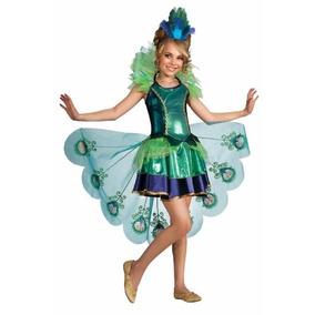 Disfraz De Pavo Real Para Niñas Con Colores Llamativos
