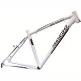 Quadro Bicicleta Aro 26 Mosso Odyssey Branco E Preto Tam 16