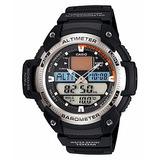 Relogio Casio Sgw 400h Altímetro Termômetro Barômetro Prata