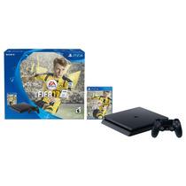 Consola Sony Ps 4 Slim 500gb + 1 Joystick + Fifa 17 Físico