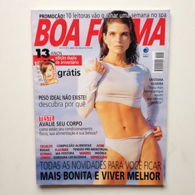 Revista Boa Forma Cristiana Oliveira Ano 1998 N°130