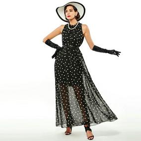 Vestido Longo De Bolinhas Feminino Lindo Tamanho Xl Lindo