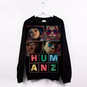 Blusa Feminina Moletom Gorillaz Humanz Album Andromeda #dark