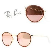 Ray Ban 3517 Pink Folding Lenon Rb3517 Rosa Mujer