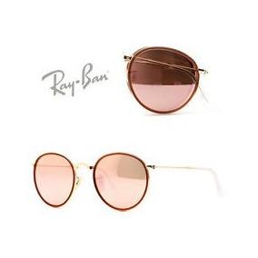 Round Ray Ban 3517 Pink Folding Lenon Rb3517 Rosa Mujer