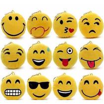 12 Un Chaveiro Emojis Whatsapp Pelúcia Emoticons Atacado
