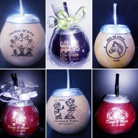 Souvenirs Mates Personalizados Con Bombilla Y Grandes!