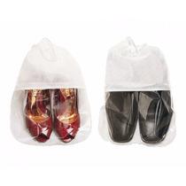 Sacolas Sacos Tnt Organizadora De Calçados 28x40 Com Visor