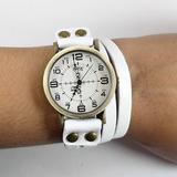 Relógio Feminino Couro Bracelete Vintage Top Frete Grátis Br