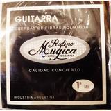 Encordado Guitarra Clásica Criolla Rufino Mugica Sobre Negro