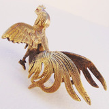 Escultura Animal Galo Briga Rinha Coleção Decoração Bronze
