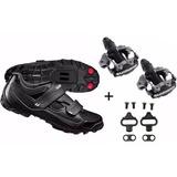 Sapatilha Shimano Mtb Sh-m065 + Pedal Shimano M520 Clip